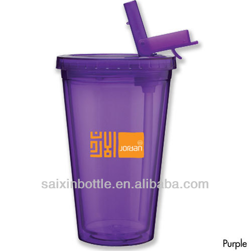 Double wall Spirit Sport Acrylic Tumbler with Flip Up Straw