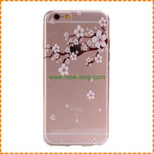 Ultra-thin Tpu Rubber Cherry Series Blossom Sakura tree print case for iphone 7