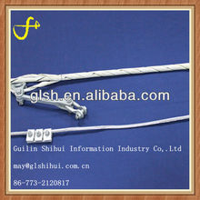 Aluminium wire rod OPGW dead-end guy grips clamp