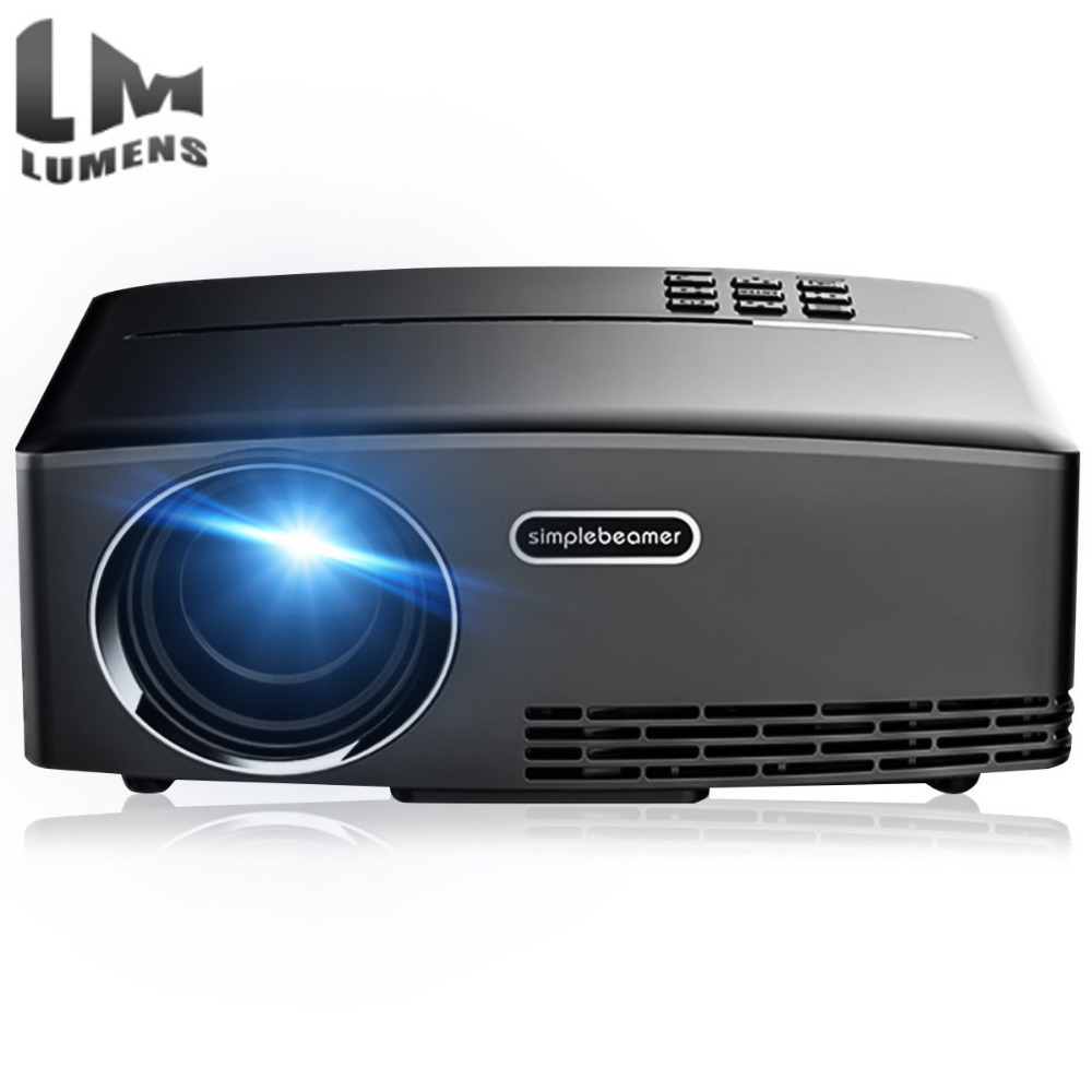 NEW GP80 1800 Lumen led beamer Mini Projector Portable Projector 800*480 LED HDMI VAG USB Video Digitale Home