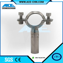 Stainless Steel Sanitary Pipe Tri Clamp Support And Pipe Holder