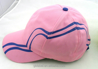 6-panel embroidery children size 56cm pink baseball caps