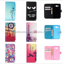 Stand Style Wallet Flip Cover Leather Case for iPhone 6 Cartoon Paiting Soft TPU Cover for iPhone and Samsung