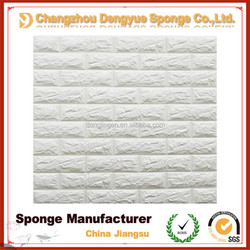 Beautiful Innovative red blue yellow white Popular 3D Foam Stone Brick Strong Adhesive Colors Home Decal Brick Wallpaper