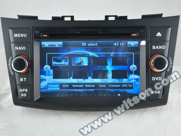 WITSON SUZUKI SWIFT 2012 CAR VIDEO PLAYER with Auto Rear View Function
