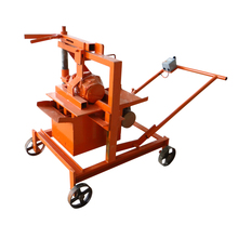 Small manual scale portable laying a cement concrete block machine