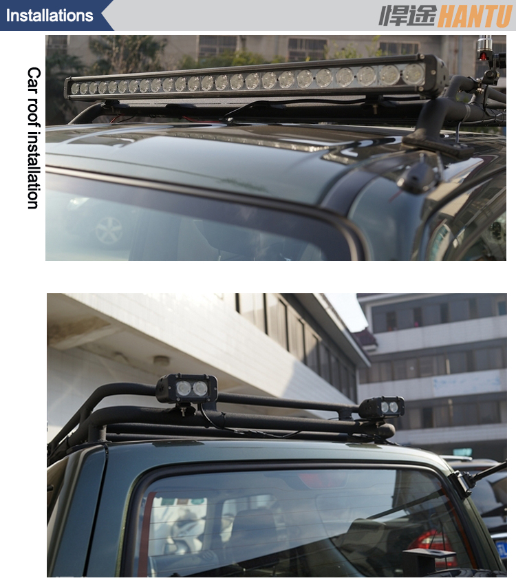 led outside lights single row car light bar high brightness outdoor led work light