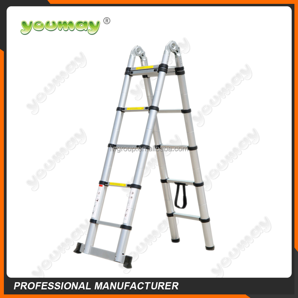 EN131 TUV Aluminium telescopic step folding ladder AT0214A/scaffold prices ring lock/ladder hinge