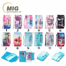 lanyard and Coloured drawing 2 in 1 separated magnetic self stick leather case For Samsung case For Samsung s4 Phone accessory
