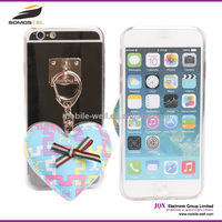 [Somostel] PC TPU Electroplated Phone Cover With Pendant Heart Cute 3D Love Heart Case For iphone 5 6 6 Plus