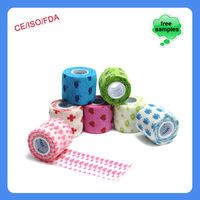 5cmx4.5m China Patterned Hospital Wound Dressing Cohesive Bandage