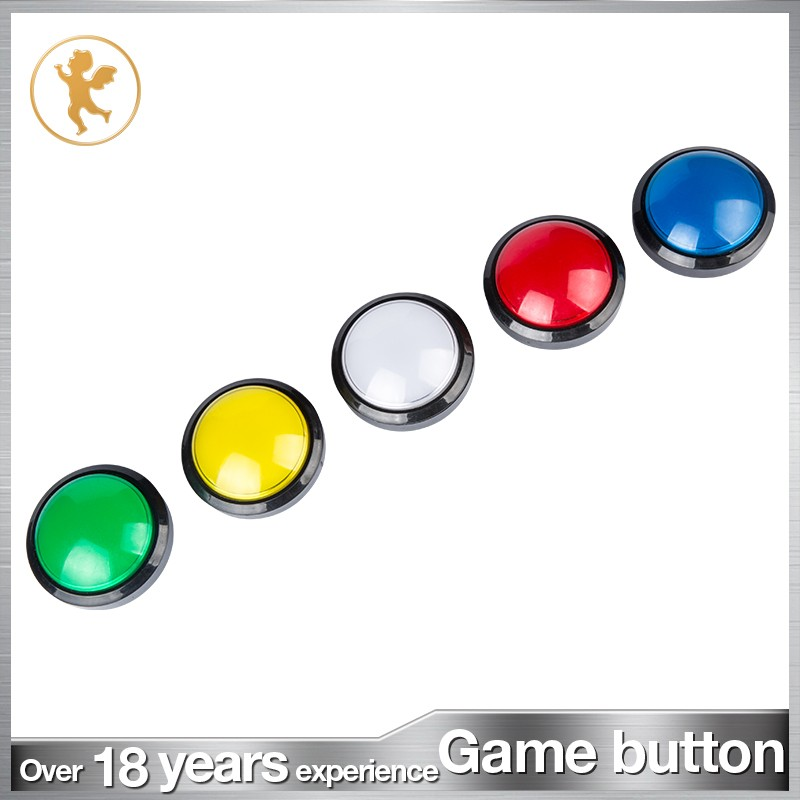 factory supply 60mm illuminated push button game machine accessories