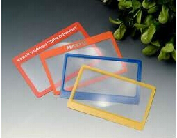 BHM-02 small fresnel lens protable PVC bookmark magnifying glass