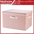 NAHAM wholesale non woven folding clothes storage box with cover