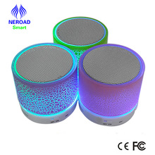 2017 Portable Mini Colorful LED Light Wireless Bluetooth Speaker with FM Radio Bluetooth Speakers