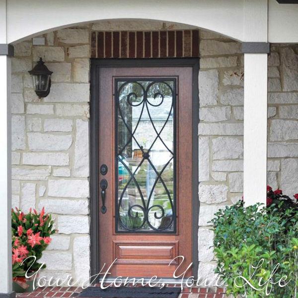 Vidrio de la puerta de hierro forjado vidrio deco dise o for Modelos de puertas de hierro con vidrio