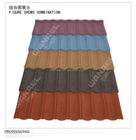 Colorful Stone Coated Steel Roof Tile Sheet / Metal Roof Truss Design