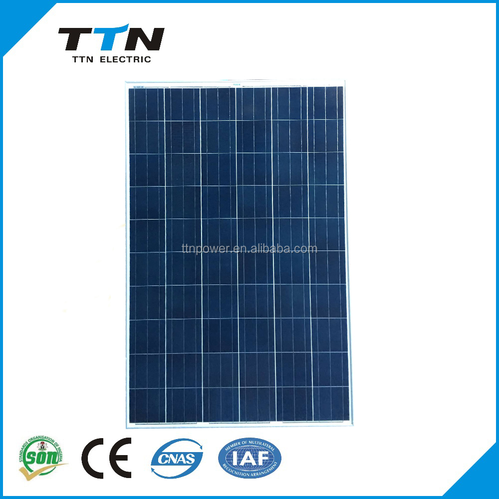 A grade high efficiency cheap price 250W-300W poly solar panel in stock for solar system solar home system poly solar panel