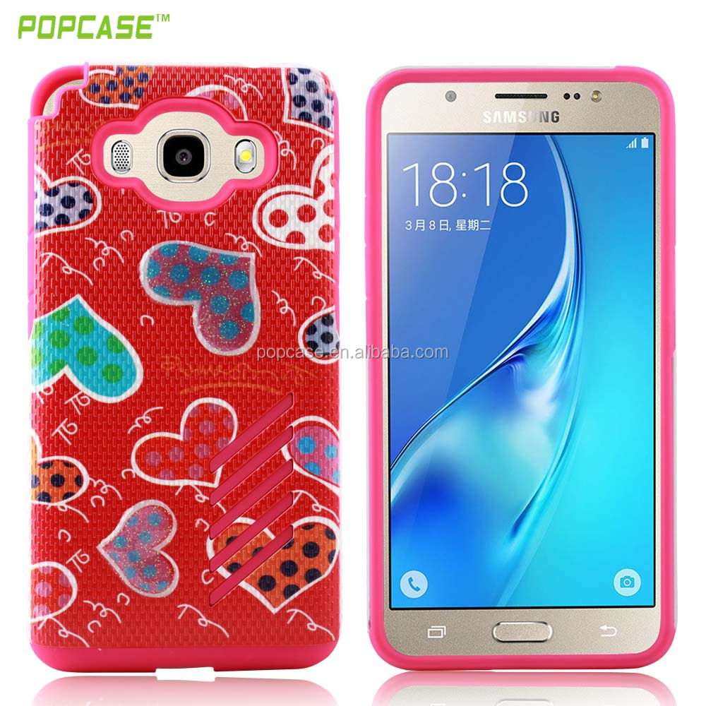 latest 2016 bumper soft Mars combo smartphones case for Samsung J5 best quality