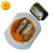 Canned sardine fish in vegetable oil 125g canned seafood canned food