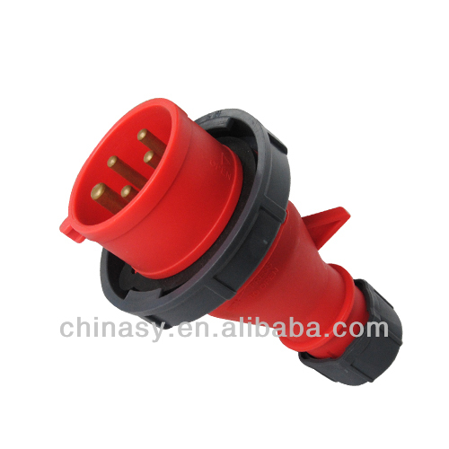 industrial socket and plug 16A-6H/220/380-240/415V,3P+N+E,IP67,splashproof