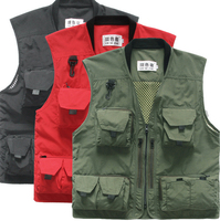 Multi Pockets Mesh Vest Fishing Hunting Waistcoat Travel Photography Jackets Outdoor Quick-Dry Fishing Vest