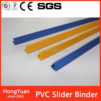 Plastic material Slide Binder&PP folder clip with A4 Notebook