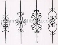 Ornamental wrought iron, Forged iron ornaments