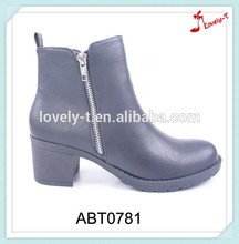 With double zippers motorcycle riding cowboy liberty jungle chunky heel ankle boots india