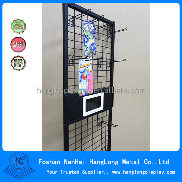 Metal Material Retail display stand slatwall hook accessories