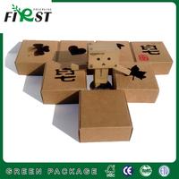 Kraft paper soap box slide open box&craft paper soap box