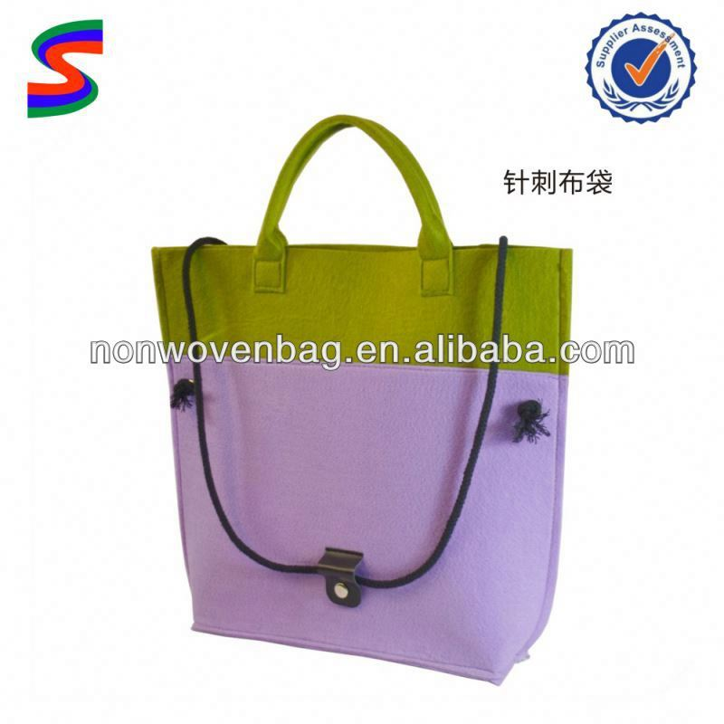 new style laptop felt bag 2014 green style felt lady bags hot sell handbags