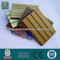 Hot Sale 2013 supply wpc decking floor wpc wall panel WPC TILE mothproof acoustic wall panel For Hotel And Cinema