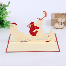 2018 New product 3D Pop-up handmade <strong>card</strong> for Christmas greeting <strong>cards</strong> new year greeting 3d <strong>card</strong>