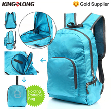 Kingslong Blue Waterproof 600D Nylon Foldable Backpack For Shopping Hiking Outdoor Activities