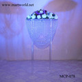 2017 transparent crystal centerpiece party and wedding decoration flower stand wedding table centerpiece (MCP-078)