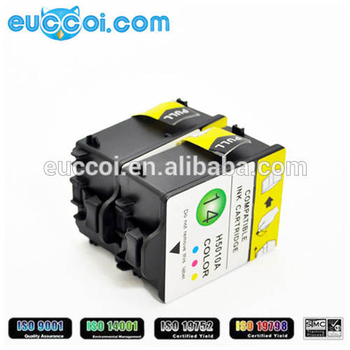 most sold No.14 C5011 C5010 printer ink cartridges for Color Inkjet Printer cp1160 series Officejet D125x photocopy machines ink