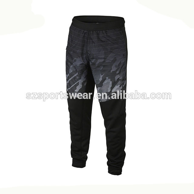Popular style black color with camo sublimation pattern jogger pants
