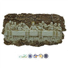 2015 polyresin Religious relief The last supper table piece