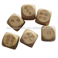 12mm laser cutting manual custom color wooden dice