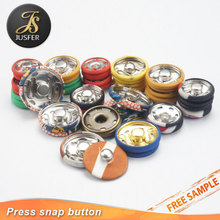 Custom any size fabric covered decorative garment press metal snap button covers