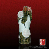 2013 Newest Tube-shaped Cultural Elements Chinese Porcelain Art