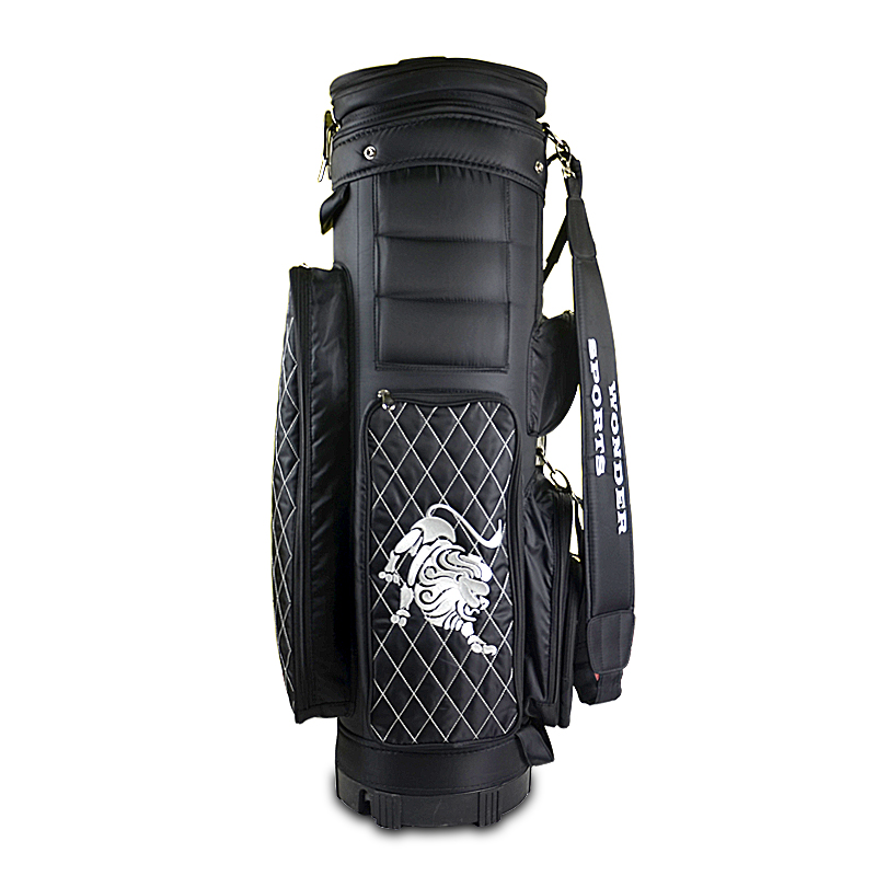 Latest New Design Golf Buggy Bag with Wheel,Nylon Waterproof Golf Bag including Free Golf Protect Cover Bag