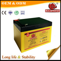 Green 12v external storage car battery 12v 17ah for e bike and scooter