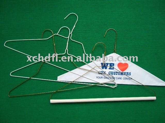 wire hanger for dry cleaning