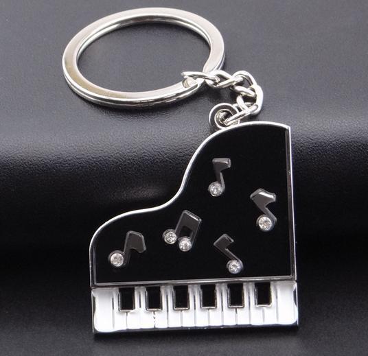 Custom Logo High Quality Beautiful Piano Metal Keychain