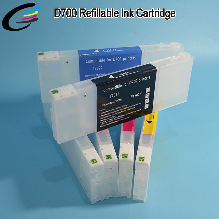 New Released Refillable Ink Cartridge for Epson SureLab D700 Inkjet Cartridges T7821 - T7826