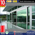 watertightness and sound proofed entry as certificate lift and sliding aluminum door
