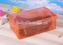 Hot plastic box with sliding lid for packing