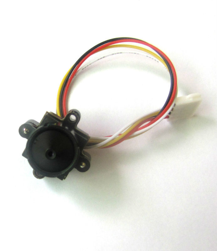 OEM Cable 520TVL HD 90deg FPV Wired Camera 0.008lux Audio Video--(6g, small size with 2 install holes)